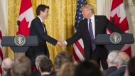 Trump will hervorragende Handelsbeziehungen zu Kanada optimieren