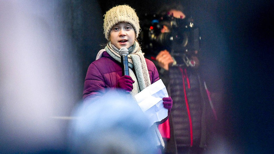 Greta Thunberg am Freitag in Hamburg.