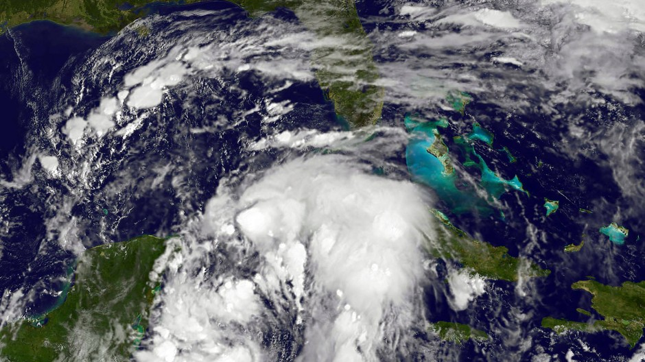 """Nachdem Hurrikan """"Nate"""" in der Karibik für Überschwemmungen gesorgt hat, soll er in der Nacht zu Sonntag auf das amerikanische Festland treffen."""