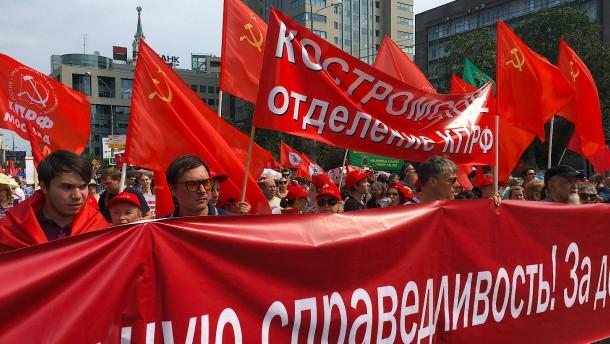 Großdemonstrationen in Russland gegen Rentenreform