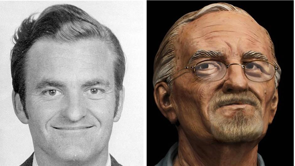 William Bradford Bishop Jr. wurde bis heute nicht gefasst. Ein Fahndungsfoto des FBIs zeigt ihn als jungen Mann sowie sein mögliches heutiges Aussehen.