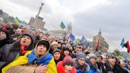 Jahrestag auf dem Majdan