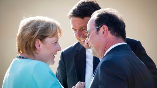 Merkel auf Mini-Gipfel mit Renzi und Hollande
