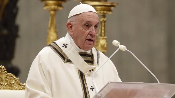 Papst ruft an Heiligabend zu Selbstlosigkeit auf