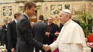 Die Mannschaft beim Papst