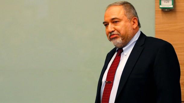 Verteidigungsminister Lieberman erklärt Rücktritt