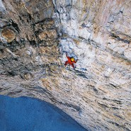 """Allein an der Großen Zinne in den Dolomiten: Alexander Huber gehört wie sein Bruder Thomas zu den erfolgreichsten Profibergsteigern in Deutschland. Bekannt wurden sie unter anderem durch den Dokumentarfilm """"Am Limit""""."""