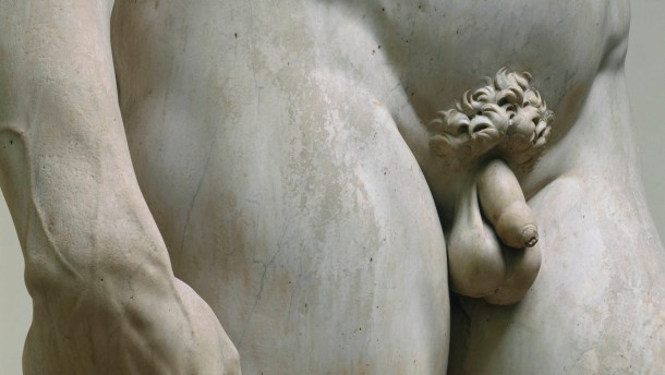Detail of David by Michelangelo