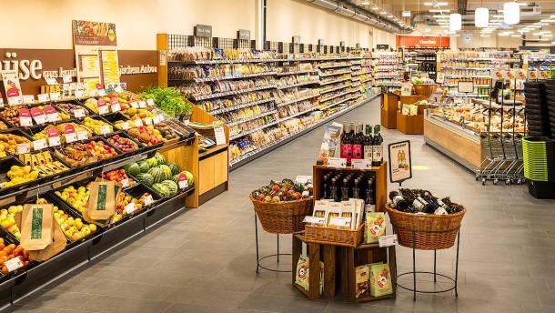 Frisch mahlen im Supermarkt