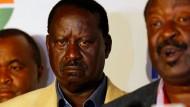 Fühlt sich um den Sieg gebracht: Oppositionsführer Odinga