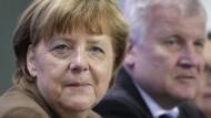 Seehofer und Merkel bei der Klausurtagung von CDU und CSU.