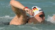Tränen und Selbstkritik bei Freiwasserschwimmern