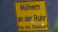 Ortsschild von Mülheim an der Ruhr