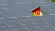 """Die Siedlung """"Sonnenschiff"""" in Freiburg wird komplett durch Solarstrom versorgt."""