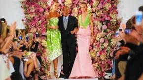 Oscar de la Renta im September bei einem Auftritt auf der New York Fashion Week