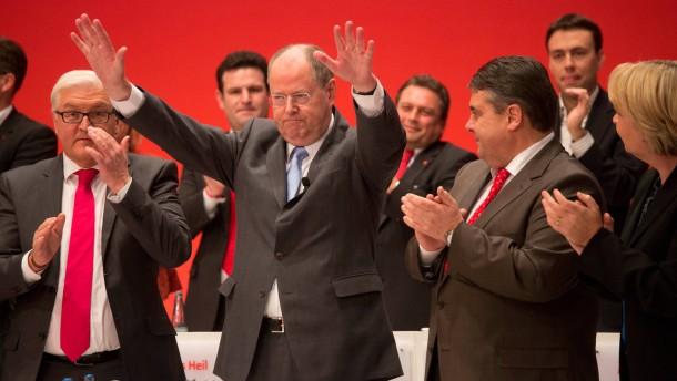 SPD Bundesparteitag Steinmeier, Steinbrück und Gabriel am Sonntag in Hannover
