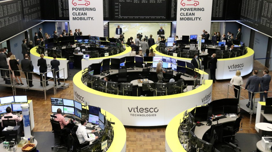 Das Frankfurter Börsenparkett zum Vitesco-Börsengang