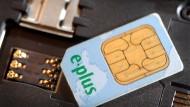 Eine SIM-Karte von E-Plus
