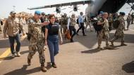 Bundesverteidigungsministerin Annegret Kramp-Karrenbauer Anfang Oktober in Mali.