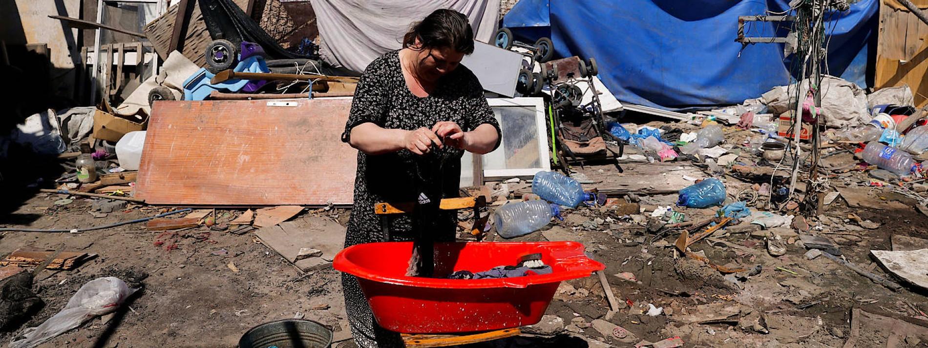 Roma-Slums als Impflücke Europas