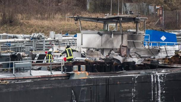 Tote bei Explosion auf Tankschiff
