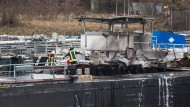 Ein Tankschiff ist im Duisburger Hafen explodiert