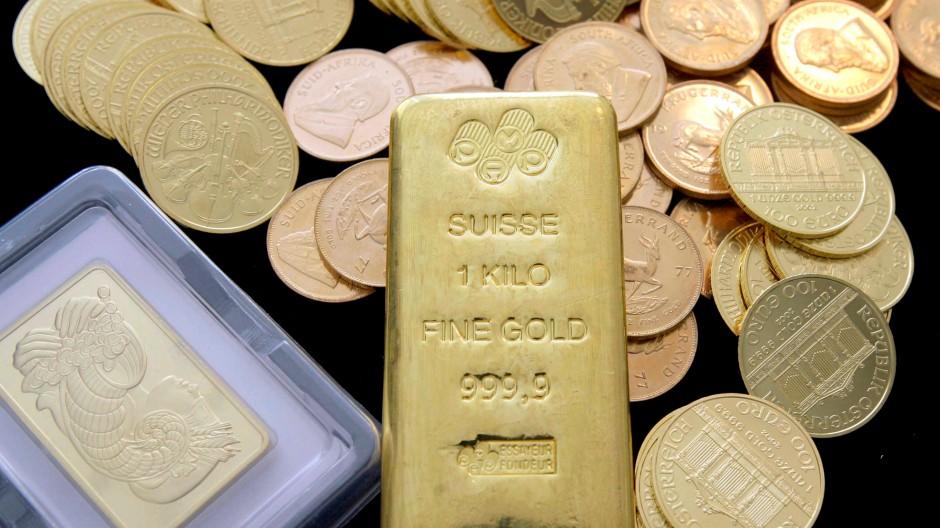 Begehrte Anlage: Gold