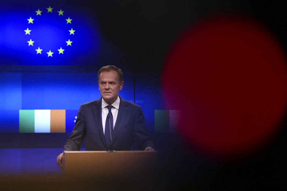 In Rage: EU-Ratschef Tusk am Mittwoch in Brüssel.