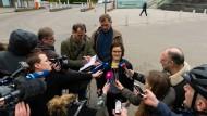 Im Zentrum des Interesses: Emily Laquer beim G20-Gipfel