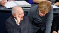 Schäuble winkt ab – und bleibt bei seiner Meinung zum Thema Renteneintrittsalter.