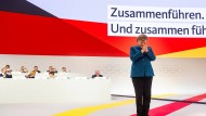 Zusammenführen und zusammen führen: Merkel wirbt auf ihrer letzten Rede als CDU-Parteivorsitzende für Zusammenhalt.