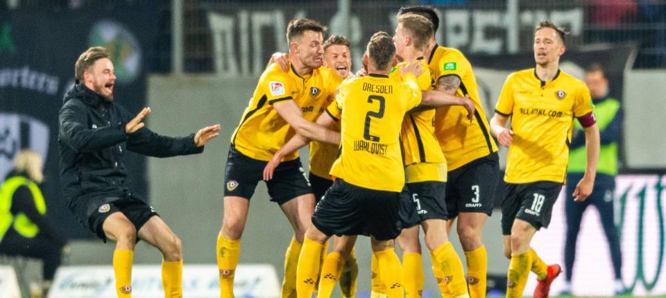 Zweite Bundesliga Dresden Holt Ersten Sieg 2019 Gegen Aue