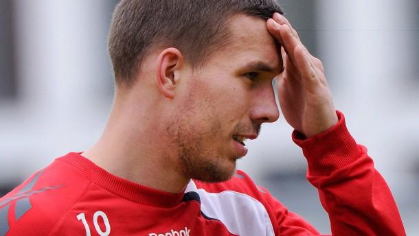Podolski trainiert beim 1. FC Köln