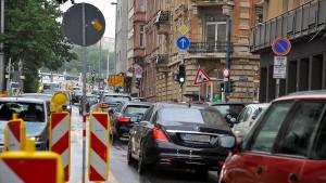 Verwirrende Verkehrsführung