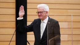 Kretschmann für dritte Amtszeit wiedergewählt