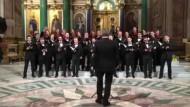 Chor in St. Petersburg beim Auftritt im Februar 2019