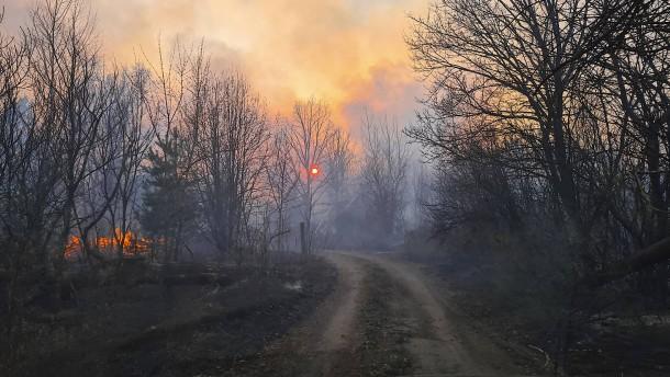 Brand in der Sperrzone