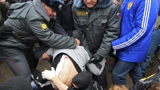 Regierungsgegner demonstrieren in Moskau