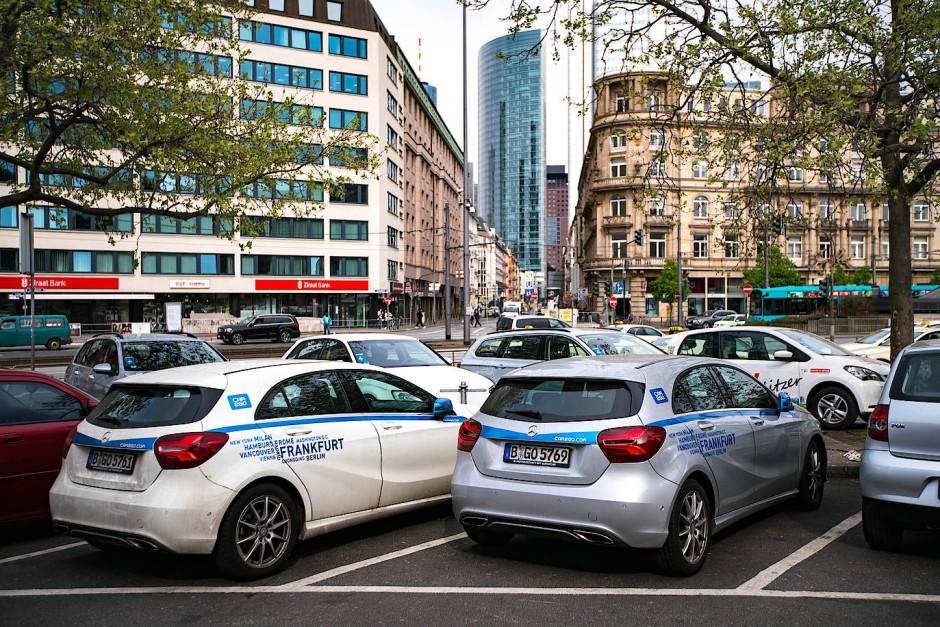 bild zu parkplatznot bremst carsharing in frankfurt aus bild 1 von 1 faz. Black Bedroom Furniture Sets. Home Design Ideas