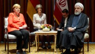 Bundeskanzlerin Angela Merkel (CDU) trifft in New York den Präsidenten Irans, Hassan Rohani