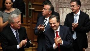 Samaras' Regierung gewinnt Vertrauensvotum