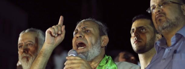 Hamas-Führer Mahmud Zahar zeigt sich erstmals wieder in der Öffentlichkeit und spricht von einem Sieg