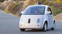 Keiner sitzt drin: Der neue Prototyp des selbstfahrenden Autos auf einem Google-Pressebild