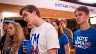 Betretene Mienen bei den Brexit-Gegnern, als sie in der Nacht zu Freitag in London die ersten Ergebnisse des Referendums erfahren