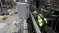 In New York werden kombinierte 4G- und 5G-Antennen bereits montiert