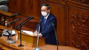Japan will bis 2050 klimaneutral werden