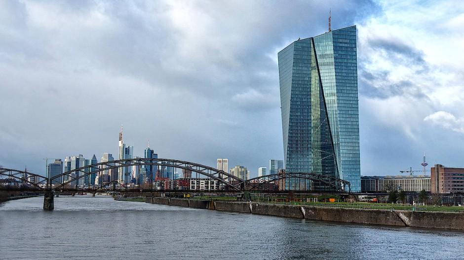 Die Zentrale der Europäische Zentralbank in Frankfurt am Main.