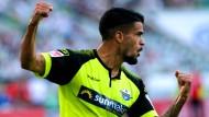 Schoss sein erstes Bundesligator: Paderborns Deutsch-Brasilianer Souza Cauly Oliveira