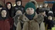"""""""Aufruf an die russischen Bürger"""": In einem Video beschreiben die Demonstranten vom Manegenplatz ihre Beweggründe."""