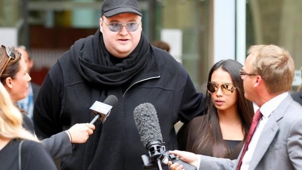 Kim Dotcom bleibt auf freiem Fuß